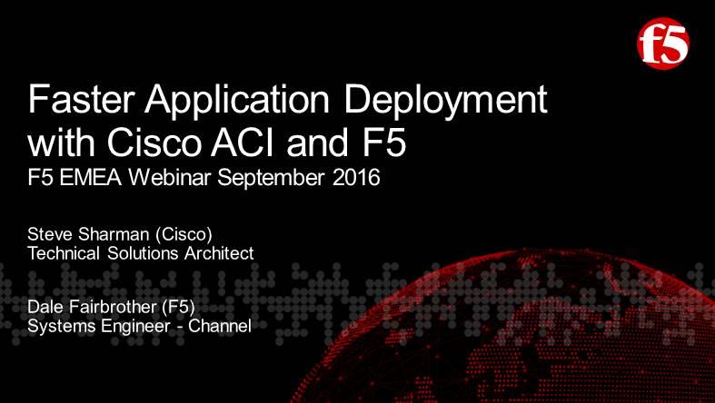 F5 EMEA Webinar September 2016 - English