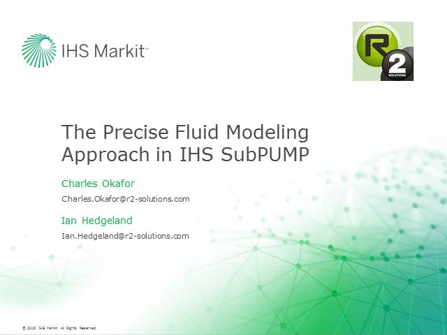 The Precise Fluid Modeling Approach in IHS SubPUMP