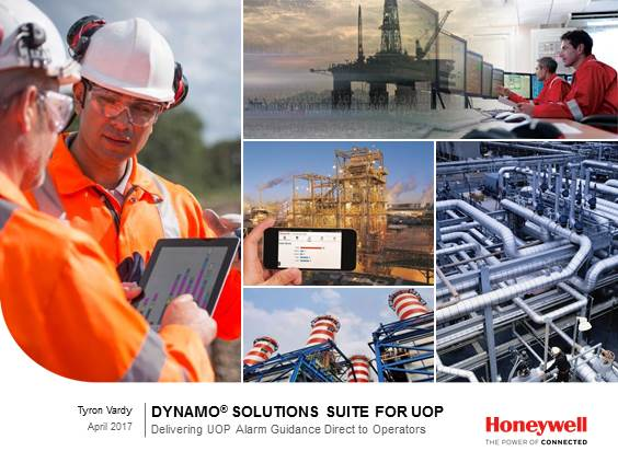 Out-of-Box Operator Guidance and Alarm Help for Honeywell UOP Process Units