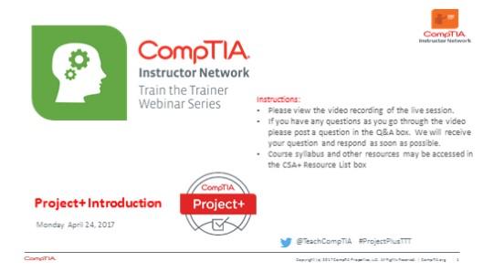 Project+ TTT: Session 1: Introduction