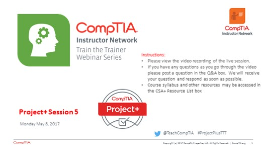 Project+ TTT: Session 5