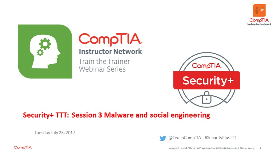 Security+ TTT Session 3: Malware and Social Engineering