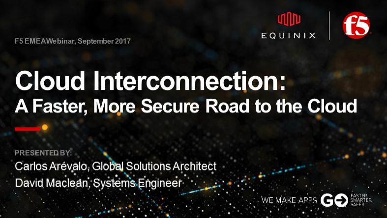 F5 EMEA Webinar September 2017  - English
