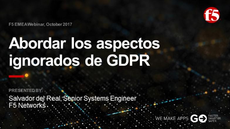 F5 EMEA Webinar October 2017 - Spanish