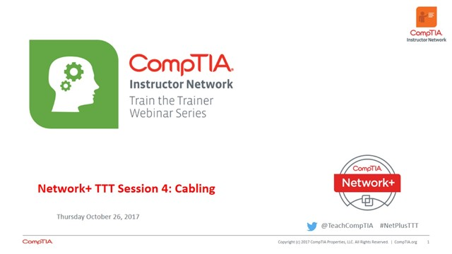 Network+ TTT - Session 4: Cabling