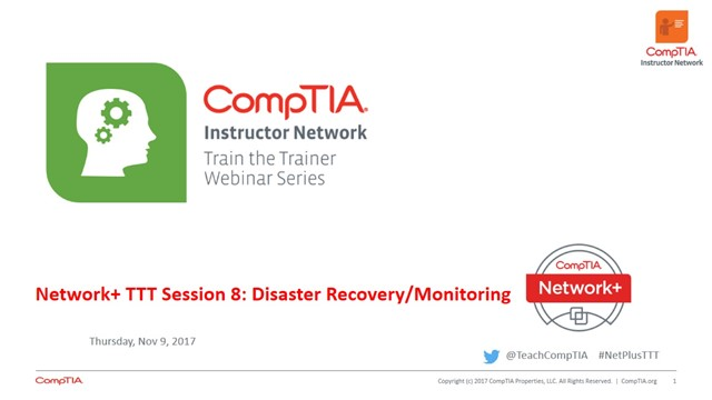 Network+ TTT - Session 8: Disaster Recovery