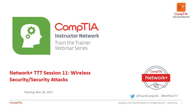 Network+ TTT - Session 11: Securing Wireless  Networking Attacks