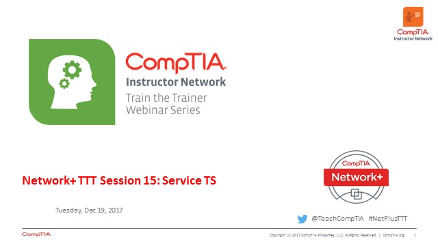Network+ TTT - Session 15: Troubleshooting Network Services Conclusion and Course Wrap-up