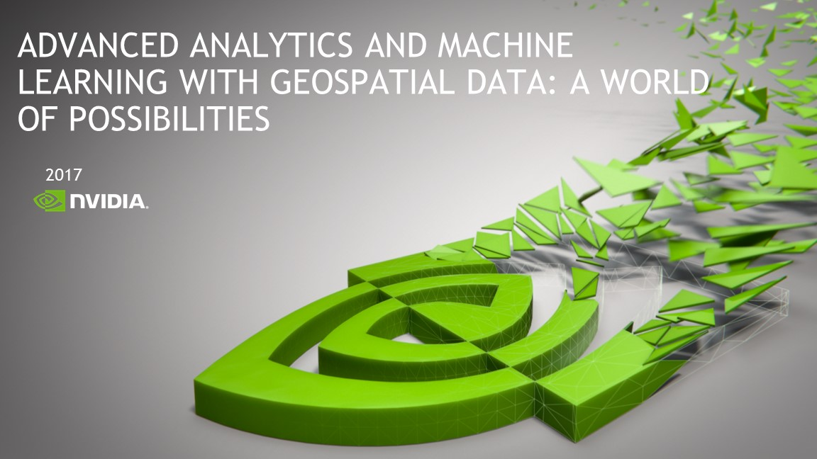 Advanced Analytics and Machine Learning with Geospatial Data: A World of Possibilities