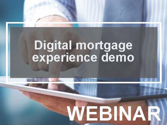 Digital mortgage experience demo