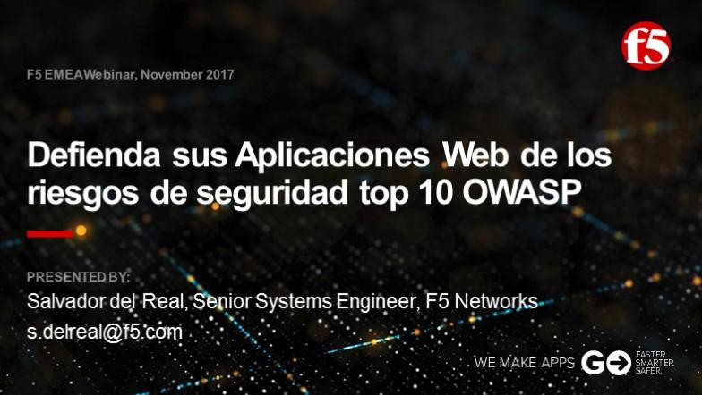 F5 EMEA Webinar November 2017 - Spanish