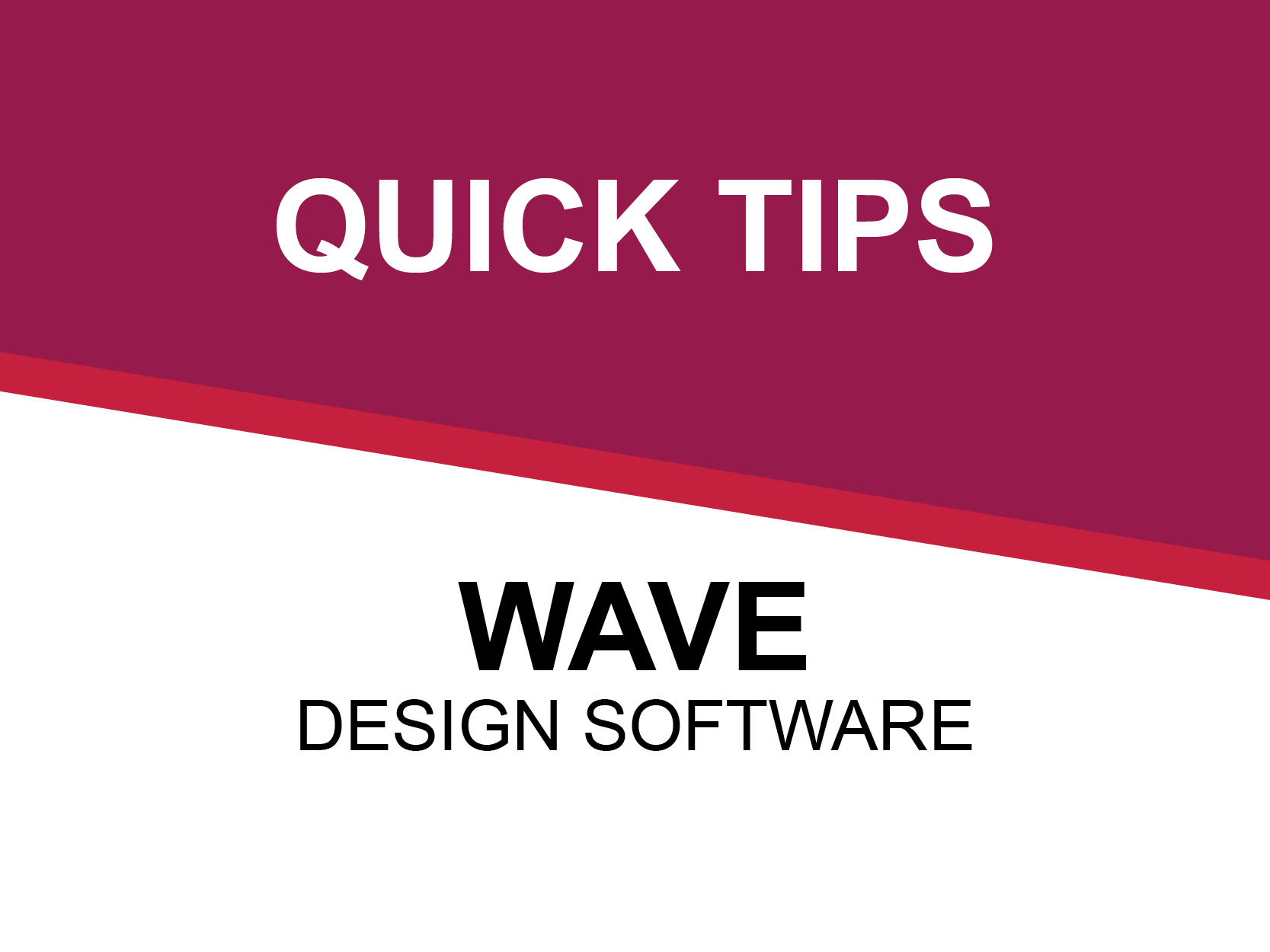 WAVE RO Tutorial 1: The Home Screen