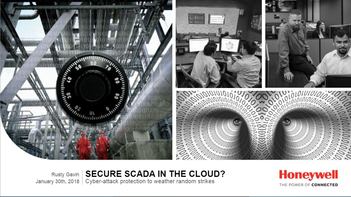 Secure SCADA in the Cloud?  Cyber-attack protection to weather random strikes