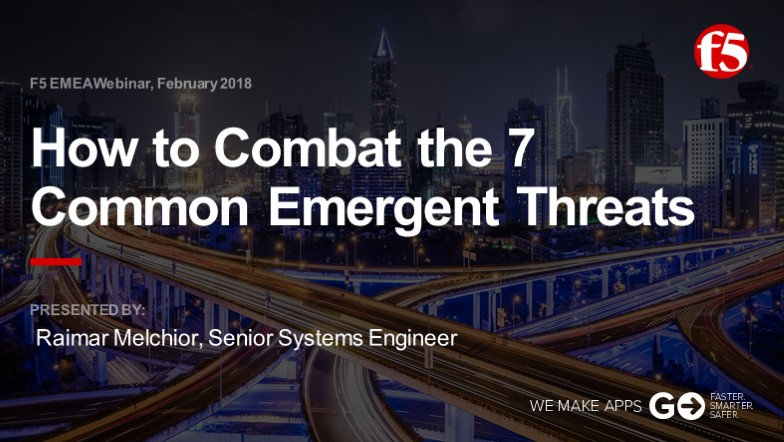 F5 EMEA Webinar February 2018 - German