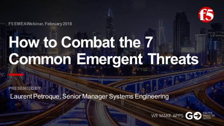 F5 EMEA Webinar February 2018 - French