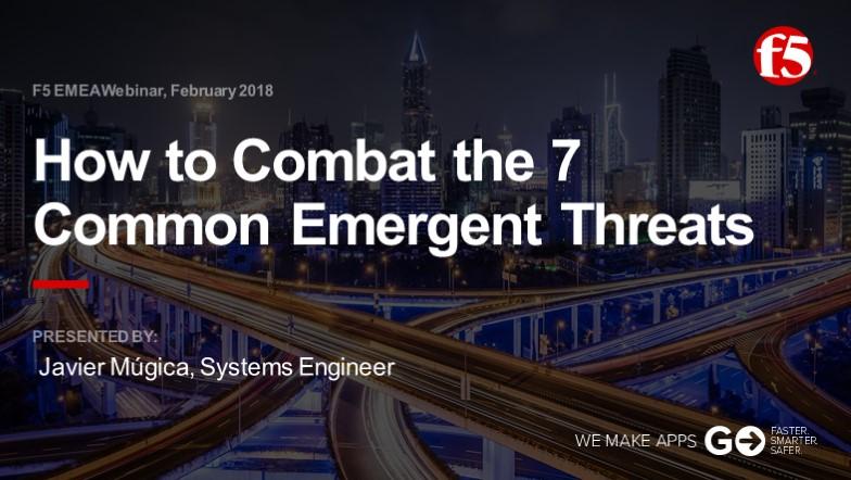 F5 EMEA Webinar February 2018 - Spanish