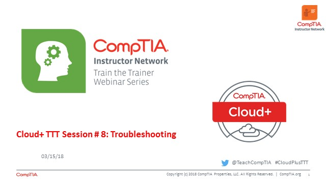 Cloud+ TTT - Session 8: Troubleshooting