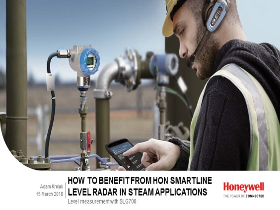 Get the full picture: Honeywell's SmartLine Level radar in steam applications