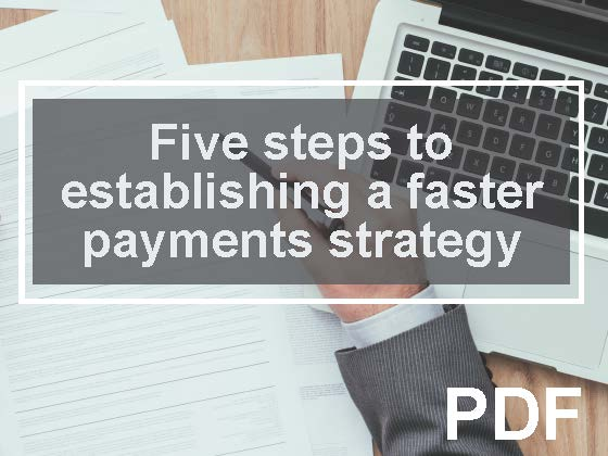 Five steps to establishing a faster payments strategy whitepaper
