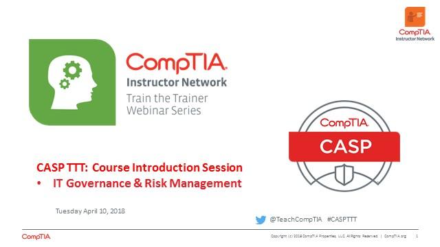 CASP TTT Session 1: Introduction