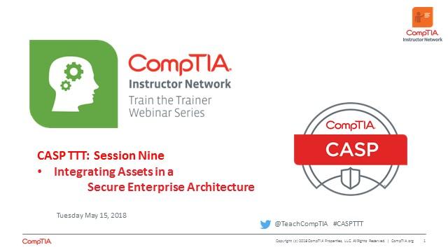 CASP TTT Session 9: Integrating Assets in Enterprise Architecture