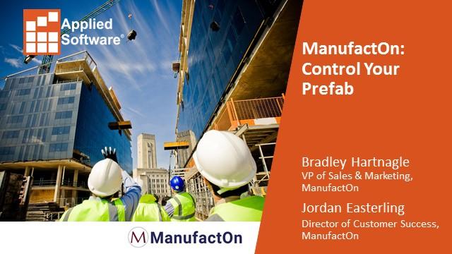 ManufactOn: Control Your Prefab