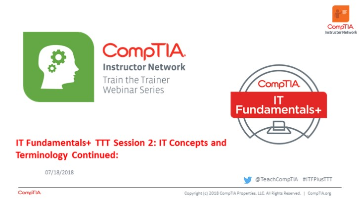 ITF TTT Session 2 -  IT Concepts and Terminology Continued