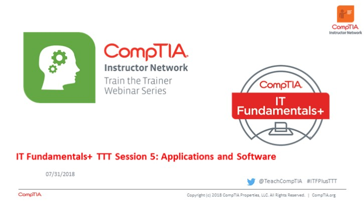 ITF TTT Session 5: Applications and Software