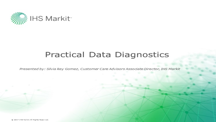 Practical Data Diagnostics - What is Your Production Data Telling You?
