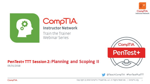 PenTest+ TTT Session 2: Planning and Scoping II