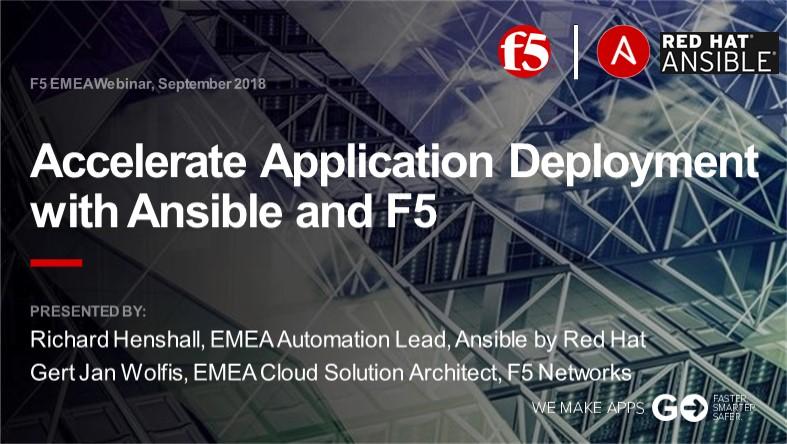 F5 EMEA Webinar September 2018 - English