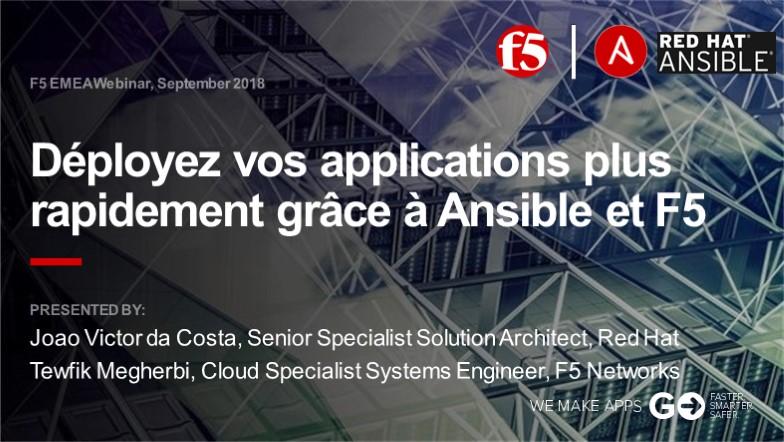 F5 EMEA Webinar September 2018 - French