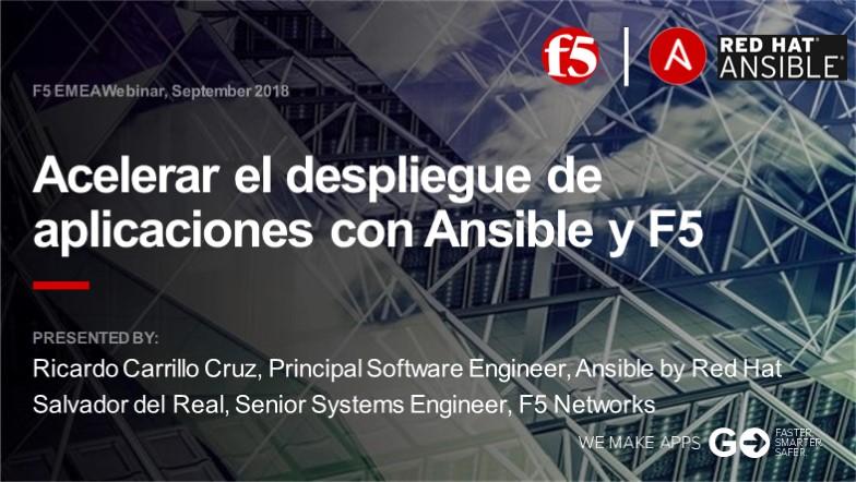 F5 EMEA Webinar September 2018 - Spanish