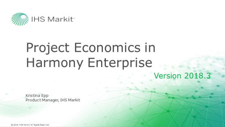 Project Economics in Harmony Enterprise