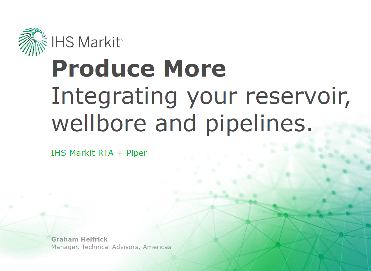 Produce More - Connect Your RTA Reservoir Models to Optimize Your Surface Facilities