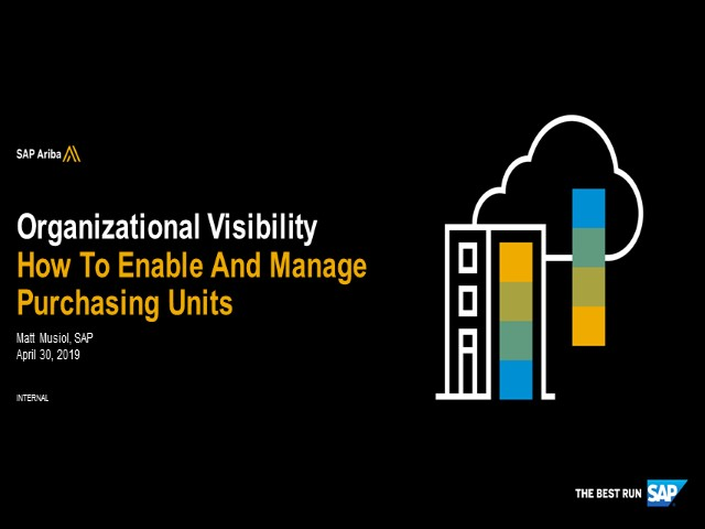 Introduction to SAP Ariba Purchasing Units