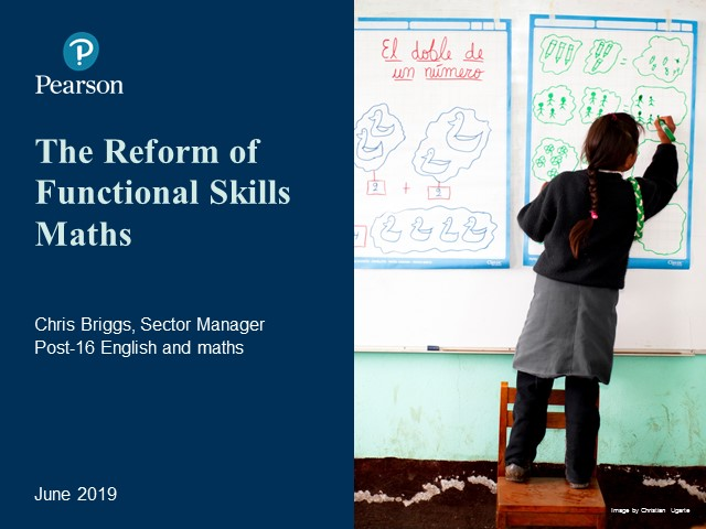 Recording: Functional Skills Reforms: Maths
