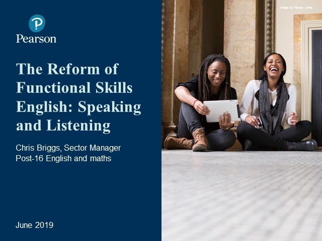 Recording: Functional Skills Reforms: Speaking and Listening