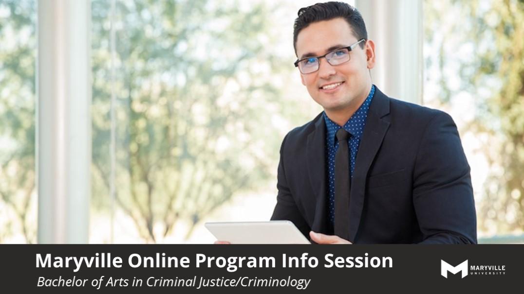 Webinar | Maryville Online | BACRIM | Criminal Justice Program Info Session | 07/24/19