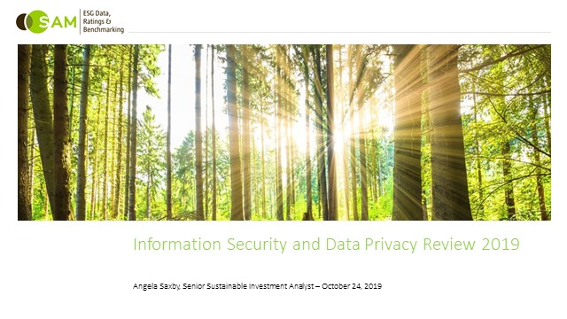 DJSI 2019 - Cyber-Security and Privacy Protection