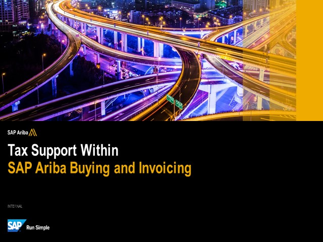 Overview of SAP Ariba Buying and Invoicing Tax Functionality