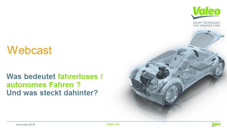 Was bedeutet autonomes / fahrerloses Fahren und was steckt dahinter?