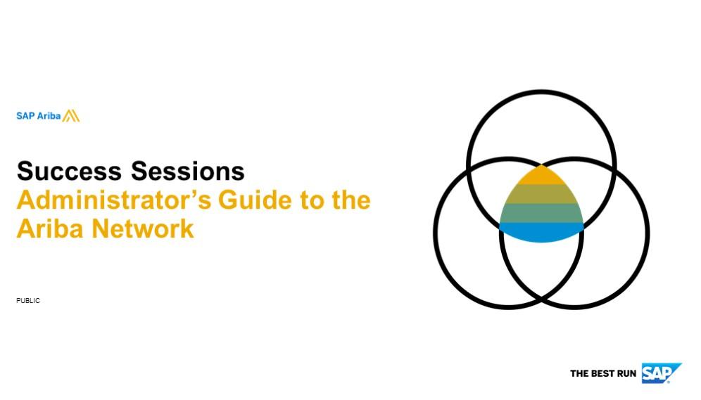 *SAP Ariba: Administrator's Guide to the Ariba Network 20/01/2020*