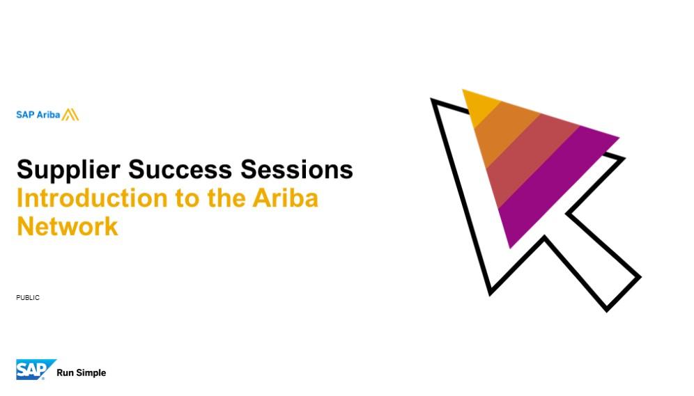 * SAP Ariba: Introduction to the Ariba Network 27/01/2020*