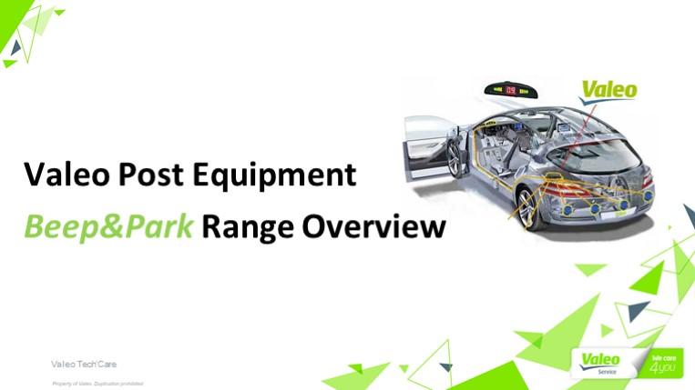 Valeo Post Equipment Beep&Park Range Overview