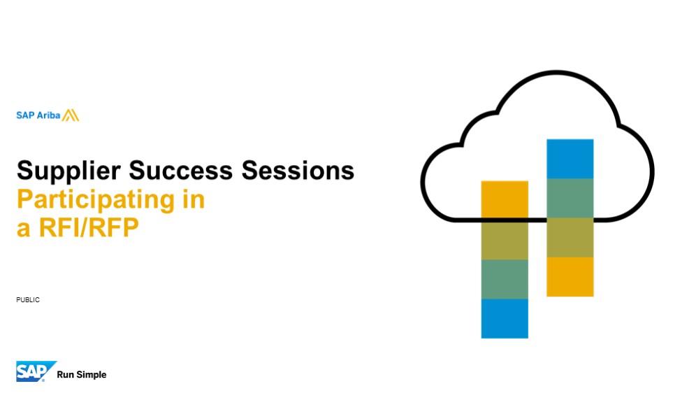 SAP Ariba: Participating in an RFI/RFP