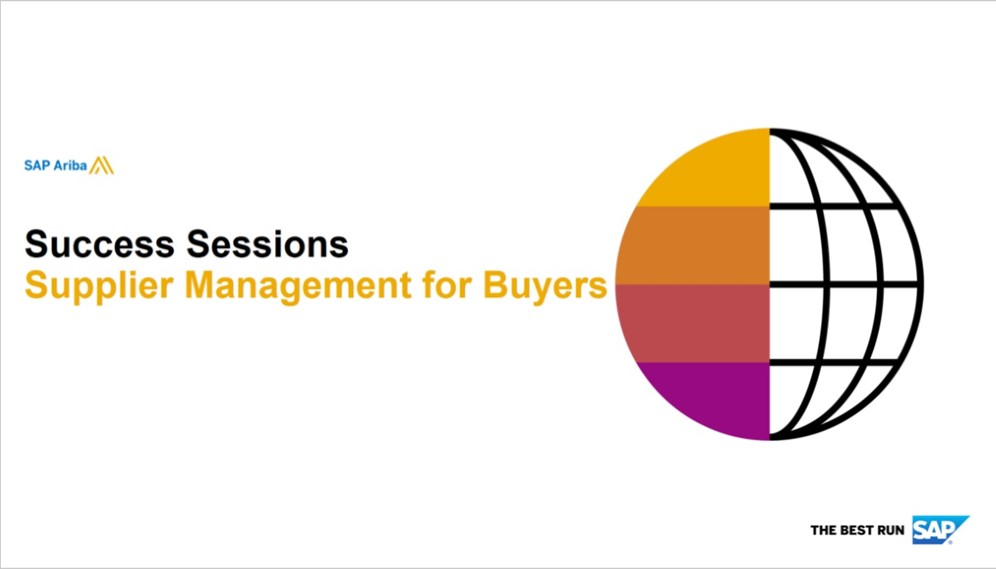 SAP Ariba: Supplier Management for Buyers