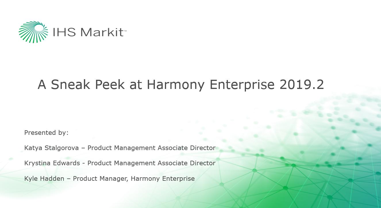 A Sneak Peek at Harmony Enterprise 2019.2