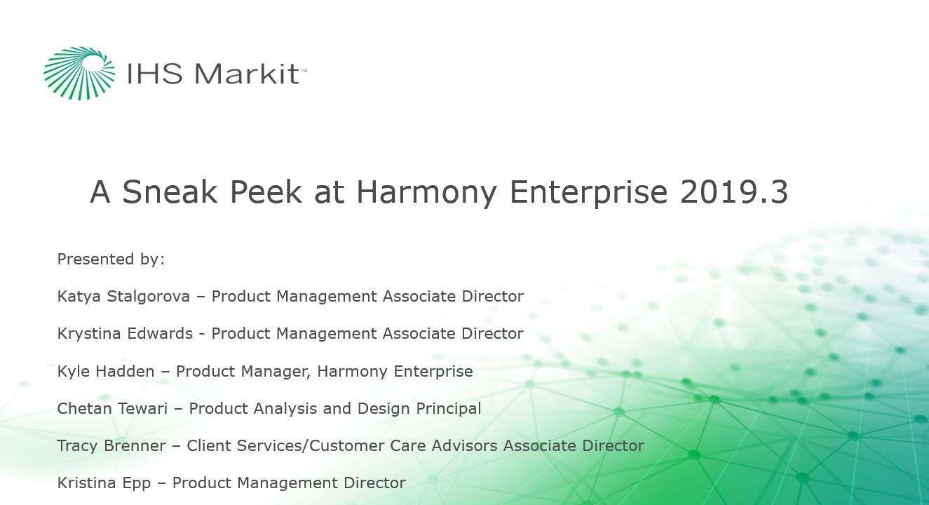 A Sneak Peek at Harmony Enterprise 2019.3