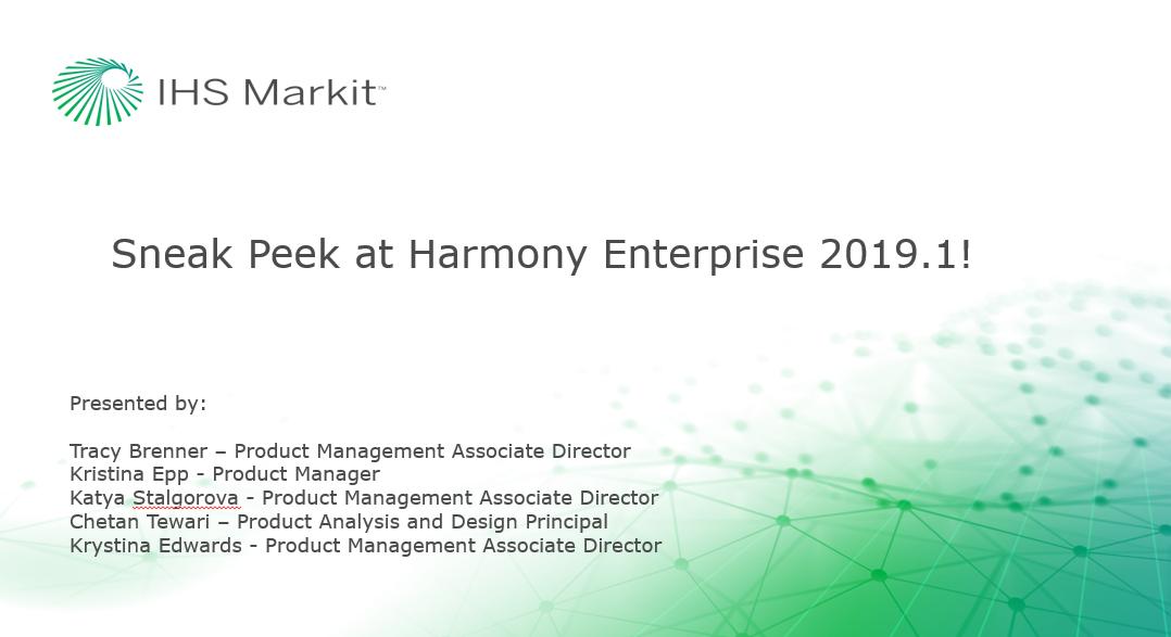 A Sneak Peek at Harmony Enterprise 2019.1